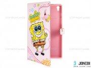 کیف تبلت لنوو طرح باب اسفنجی صورتی Colourful Case Lenovo Tab S8 SpongeBob