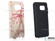 قاب محافظ سامسونگ طرح برج ایفل و گل Mobile Case Samsung Galaxy Note 5