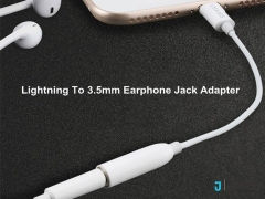 کابل مبدل صدا یوسامز Usams US-SJ102 Lightning to 3.5mm Audio Adapter