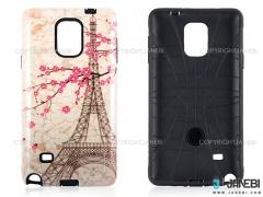 قاب محافظ سامسونگ طرح برج ایفل و گل Mobile Case Samsung Galaxy Note 4