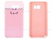 محافظ ژله ای سامسونگ طرح عشق Mobile Case Samsung Galaxy Note 5