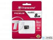 رم میکرو اس دی 8 گیگابایت ترنسند Transcend 8GB microSDHC Premium 133X Class 10