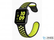 اپل واچ سری 2 مدل Apple Watch 42mm Nike Plus Space Gray Aluminum Case With Black/Volt Sport Band
