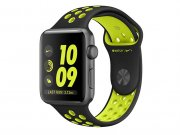 اپل واچ سری 2 مدل Apple Watch 38mm Nike Plus Space Gray Aluminum Case With Black/Volt Sport Band