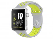 اپل واچ سری 2 مدل Apple Watch 38mm Nike Plus Silver Case With Silver/Volt Sport Band