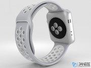 اپل واچ سری 2 مدل Apple Watch 42mm Nike Plus Silver Aluminum Case With Silver/White Sport Band