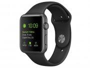 اپل واچ سری 2 مدل Apple Watch 42mm Space Gray Case With Black Sport Band