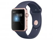 اپل واچ سری 2 مدل Apple Watch 38mm Rose Gold Case With Midnight Blue Sport Band