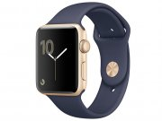 اپل واچ سری 2 مدل Apple Watch 38mm Gold Case With Midnight Blue Sport Band