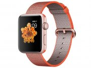 اپل واچ سری 2 مدل Apple Watch 42mm Rose Gold Case With Space Orange Anthracite Woven Nylon Band