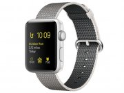 اپل واچ سری 2 مدل Apple Watch 38mm Silver Case With Pearl Woven Nylon Band