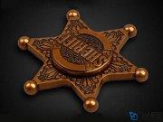 اسپینر فلزی شش پره ای Fidget Spinner Sheriff