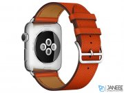 اپل واچ سری 2 مدل Apple Watch 42mm Hermes Feu Epsom Leather Single Tour