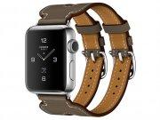 اپل واچ سری 2 مدل Apple Watch 38mm Hermes Etoupe Swift Leather Double Buckle Cuff