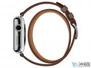 اپل واچ سری 2 مدل Apple Watch 42mm Hermes Etoupe Swift Leather Double Tour