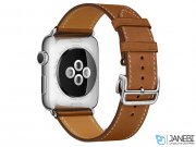 اپل واچ سری 2 مدل Apple Watch 38mm Hermes Fauve Barenia Single Tour Deployment Buckle