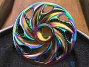 اسپینر فلزی چرخی رنگین کمانی Fidget Spinner Rainbow Wheel