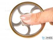 اسپینر فلزی چرخی هاشوردار Fidget Spinner Hatching Wheel