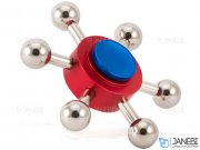 اسپینر فلزی شش پره ای مولکولی Fidget Spinner Metal Molecule