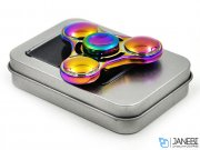 اسپینر فلزی سه پره ای رنگین کمانی طرح دایره ای Fidget Spinner Metal Rainbow Circle
