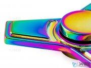 اسپینر فلزی سه پره ای رنگین کمانی طرح ذوزنقه Fidget Spinner Metal Rainbow Trapezius