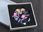 اسپینر فلزی دایره ای دندانه دار رنگین کمانی Fidget Spinner Metal Rainbow Jagged