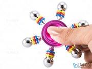 اسپینر فلزی شش پره ای رنگی Fidget Spinner Metal Rainbow Colorful