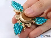 اسپینر فلزی سه پره ای طرح بال Fidget Spinner Metal Wing