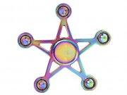 اسپینر فلزی ستاره پنچ پر رنگین کمانی Fidget Spinner Metal Rainbow Five Wing Star