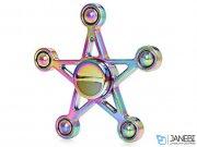 اسپینر فلزی ستاره پنچ پر رنگین کمانی
