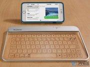 کیبورد بی سیم شیشه ای شفاف Brookstone Transparent Wireless Bluetooth Glass Keyboard