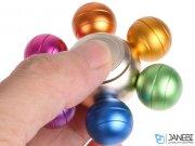 اسپینر فلزی طرح توپ های رنگین کمانی Fidget Spinner Metal Rainbow Balls