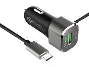 شارژر فندکی سریع اسپیگن Spigen USB-C Quick Charge 3.0 Car Charger F29QC