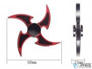اسپینر فلزی چهار پره ای طرح شوریکن 3 Fidget Spinner Metal Shuriken