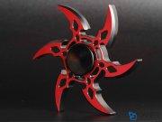 اسپینر فلزی شش پره ای طرح شوریکن 5 Fidget Spinner Metal Shuriken