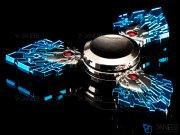 اسپینر فلزی سه پره ای طرح پر طاووس Fidget Spinner Metal Peacock Feather