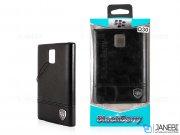 قاب محافظ چرمی بلک بری BlackBerry Classic Q30 Leather Case