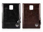 قاب محافظ طرح چرم بلک بری BlackBerry Q30 Leather Design Hard Case