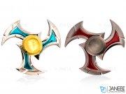 اسپینر فلزی سه پره ای طرح شوریکن 9 Fidget Spinner Metal Shuriken