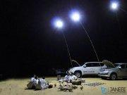 لامپ مسافرتی و قلاب ماهیگیری Outdoor Multifunction Fishing Rod Lamp