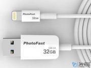 کابل شارژ حافظه دار لایتنینگ فتوفست PhotoFast Lightning Photo Backup Cable 32GB