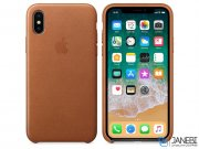 قاب محافظ چرمی اصلی اپل آیفون Apple Leather Case Apple iPhone X