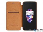 کیف چرمی نیلکین وان پلاس Nillkin Qin Leather Case OnePlus 5