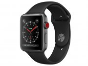 اپل واچ سری 3 مدل Apple Watch 38mm GPS+Cellular Space Gray Aluminum Case Black Sport Band