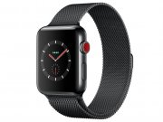 اپل واچ سری 3 مدل Apple Watch 42mm GPS+Cellular Space Black Stainless Steel Case Space Black Milanese Loop