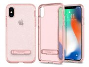 قاب محافظ اسپیگن آیفون Spigen Crystal Hybrid Glitter Case Apple iPhone X