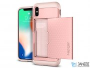 قاب محافظ اسپیگن آیفون Spigen Crystal Wallet Case Apple iPhone X