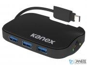 هاب 3 پورت و اترنت کنکس Kanex USB 3.0 3-Port Hub + Gigabit Ethernet Adapter
