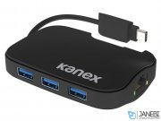 هاب 3 پورت و اترنت کنکس Kanex USB-C 3-Port Hub with Gigabit Ethernet