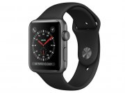 اپل واچ سری 3 مدل Apple Watch 38mm GPS Space Gray Aluminum Case Black Sport Band